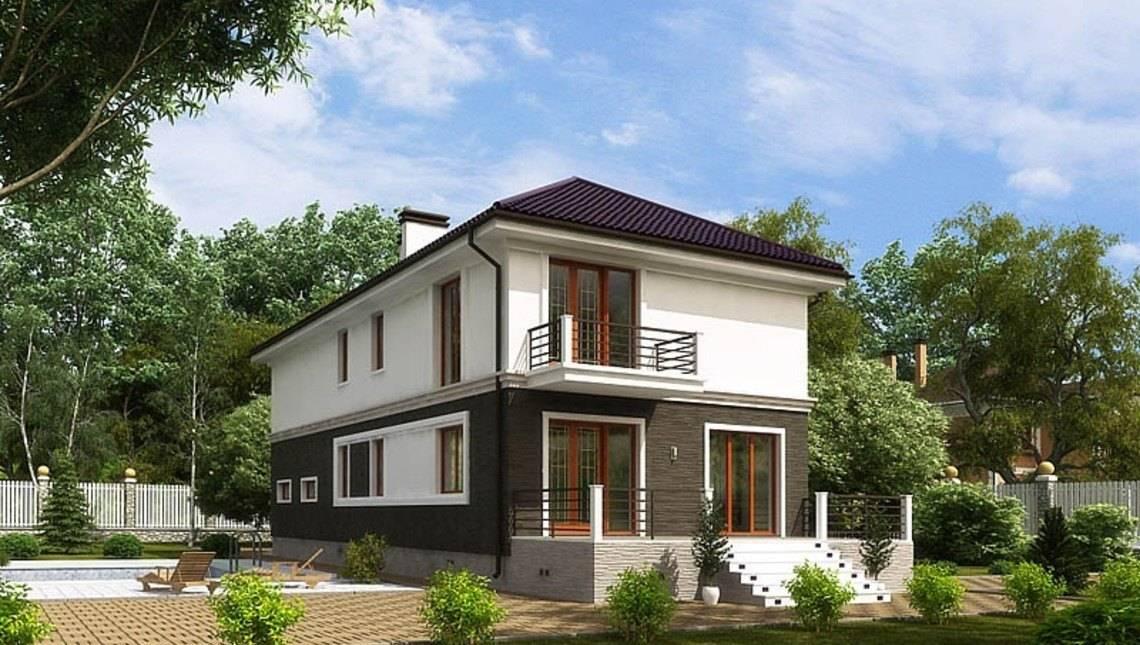 Проект 2х поверхового будинку для вузької ділянки