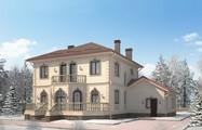 Проект розкішного вишуканого будинку з незвичайним фасадом