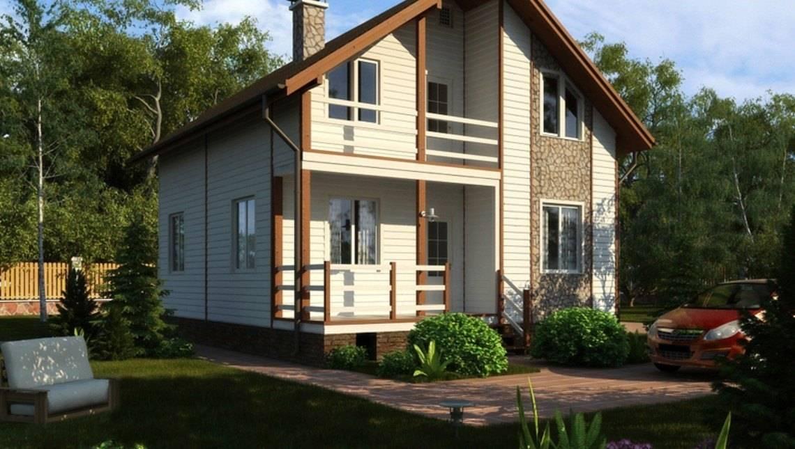 Проект житлового світлого будинку з мансардою