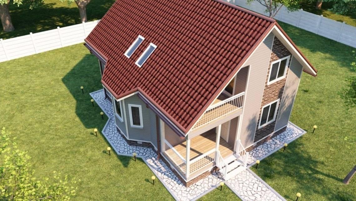Готовий проект стильного заміського мансардного будинку