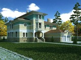 Проект заміського котеджу з гаражем і басейном