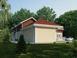 Проект вишуканого заміського будинку з цоколем
