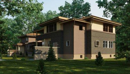 Проект заміського будинку з басейном всередині