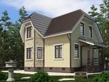 Проект малогабаритного простого будинку площею 100 m²
