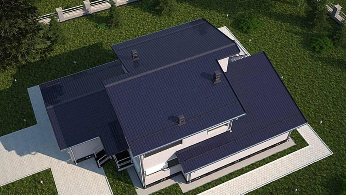 Проект двоповерхового практичного і нескладного в будівництві котеджу