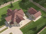 Проект заміської вілли площею 220 m²