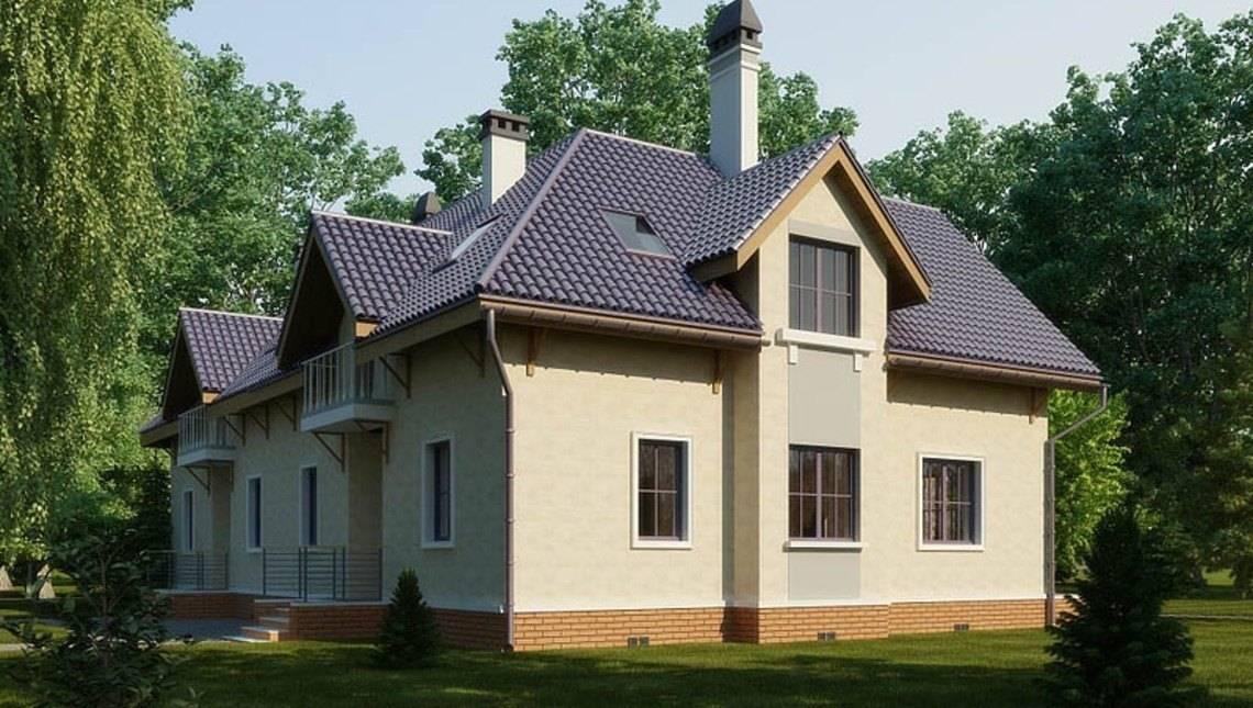 Архітектурний проект класичного будинку з мансардою