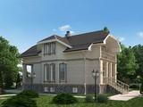 Проект житлового 2 х поверхового котеджу з незвичайним дизайном