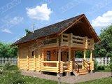 Архітектурний проект гостьового будиночку з лазнею