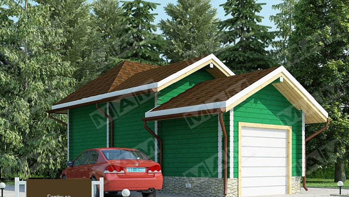 Проект невеликого гаража зі сторожкою
