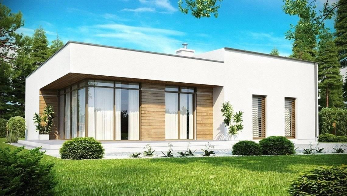 Проект сучасного будинку з плоским дахом