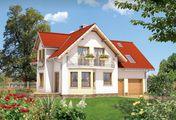 Проект для будівництва будинку Т-подібної форми з мансардою