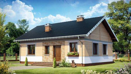 Невеликий будинок на чотири житлові кімнати