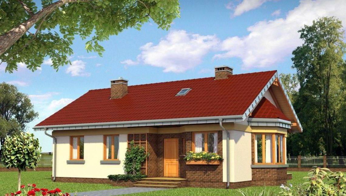 Компактний заміський будиночок з площею 80 m²