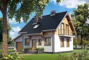 Невеликий затишний котедж площею 110 m²