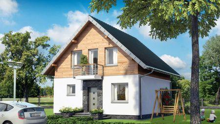 Проект чудового котеджу з дерев'яним мансардним поверхом