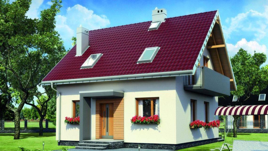 Невеличкий заміський дім з чотирма кімнатами та площею 100 m²