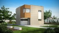 Проект невеликого будинку з трьома затишними спальнями