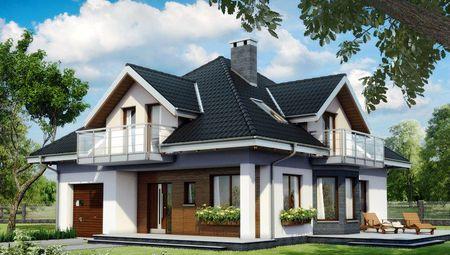 Архітектурний проект заміського особняка з неповторною терасою та балконами