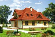 Заміський котедж в класичному стилі з мансардним поверхом