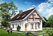 Проект невеликої заміської садиби з площею 120 m²