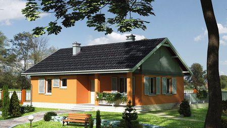 Проект заміського будинку з площею всього 80 m²