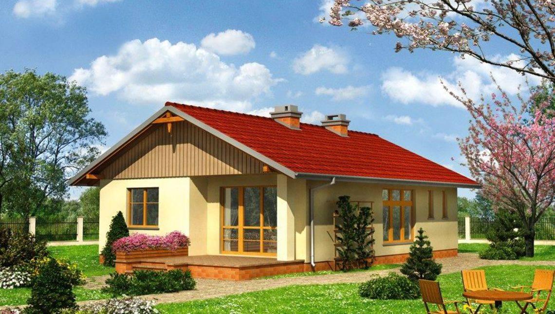 Проект одноповерхового будиночка для невеликої родини