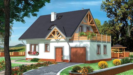 Проект компактної садиби з площею 140 m²