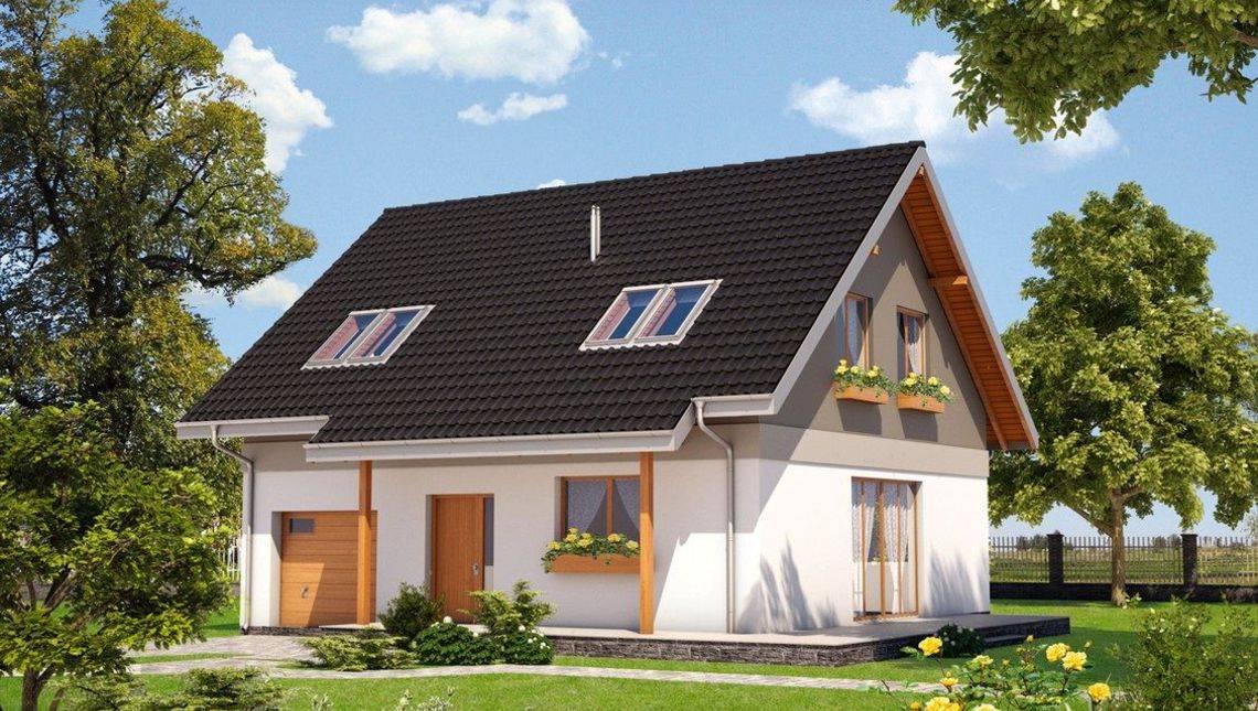 Компактний заміський будиночок з мансардою і гаражем