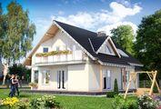 Проект гарного заміського котеджу з п'ятьма спальнями