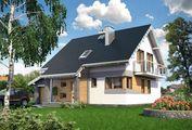 Проект заміського котеджу з площею 210 m²