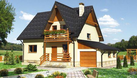Компактний заміський будинок з розмірами 9 на 13 м