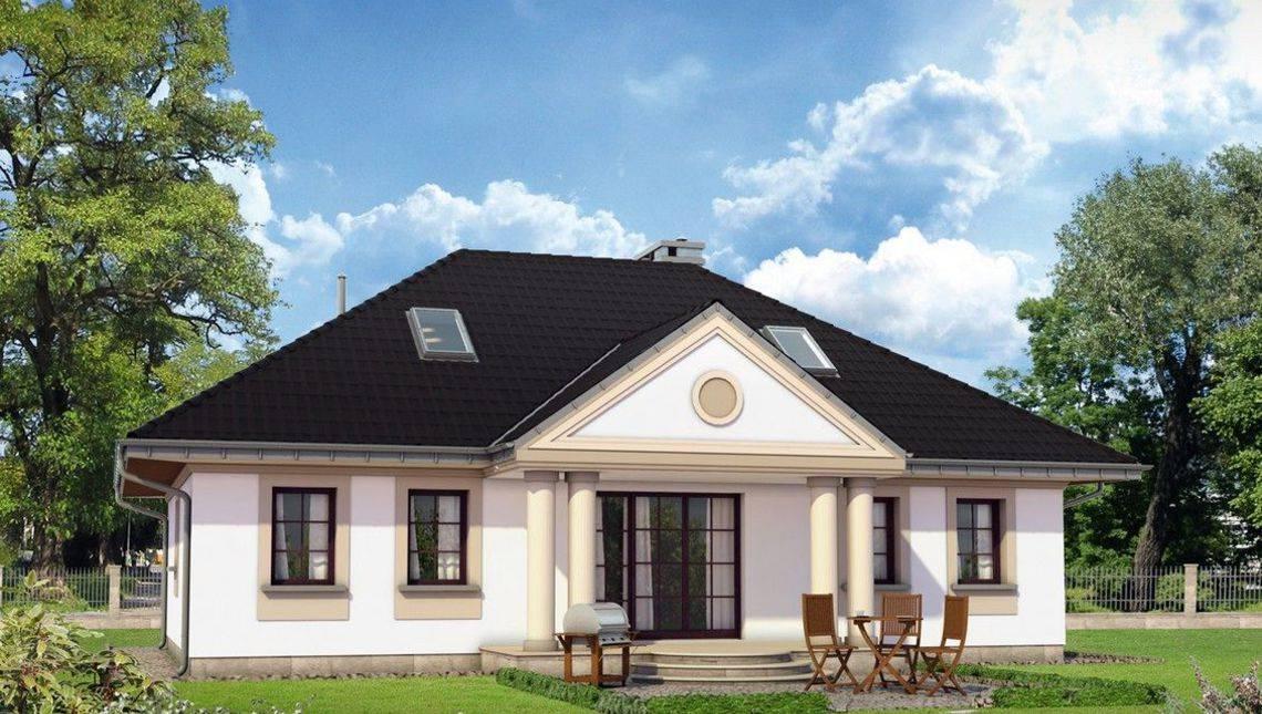 Неймовірний заміський будинок з гарними колонами та верандою