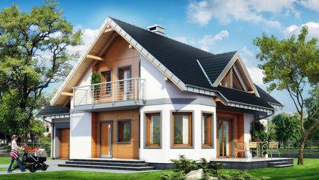 Великий заміський дім з терасою та гаражем