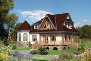 Привабливий проект терема з цокольним поверхом