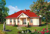 Проект затишного будинку з чотирискатним дахом
