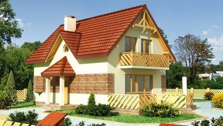 План невеликого житлового будинку з трьома спальнями