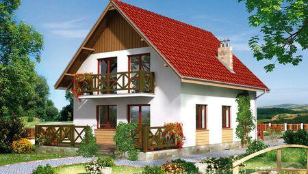 План будинку в європейському стилі житловою площею 110 кв. м