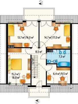 Двоповерховий будинок зручного планування