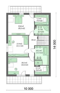 Красивий двоповерховий будинок зі спальнями підвищеного комфорту