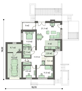 Гарний особняк на два поверхи з шикарним плануванням