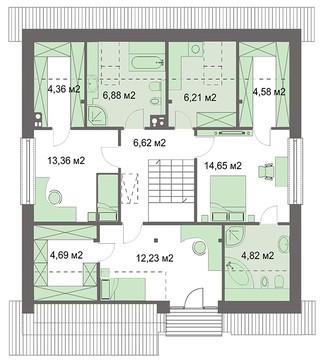 Стильний житловий будинок з зручними спальнями