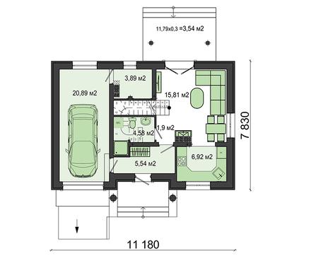 Проект для будівництва будинку з балкончиками