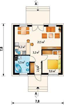 Крихітний дачний будинок з площею усього 50 m²