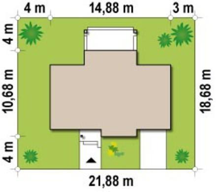 Проект невеликого одноповерхового котеджу на 100 m²