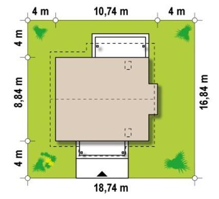 Проект будинку з еркером і кабінетом на першому поверсі