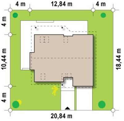 Готовий проект будинку з мансардою 10 на 12