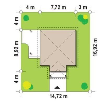 Проект садового будиночка 8 на 8