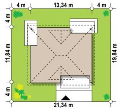 Проект одноповерхового будинку 110 m²