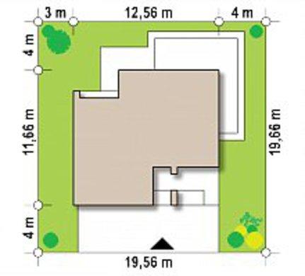 Проект невеликого двоповерхового будинку з плоскою покрівлею